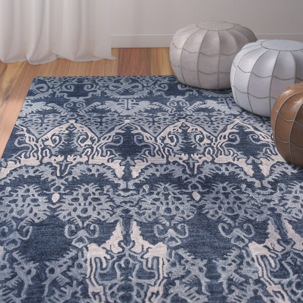 Allen Hand-Tufted Denim Area Rug by Bungalow Rose