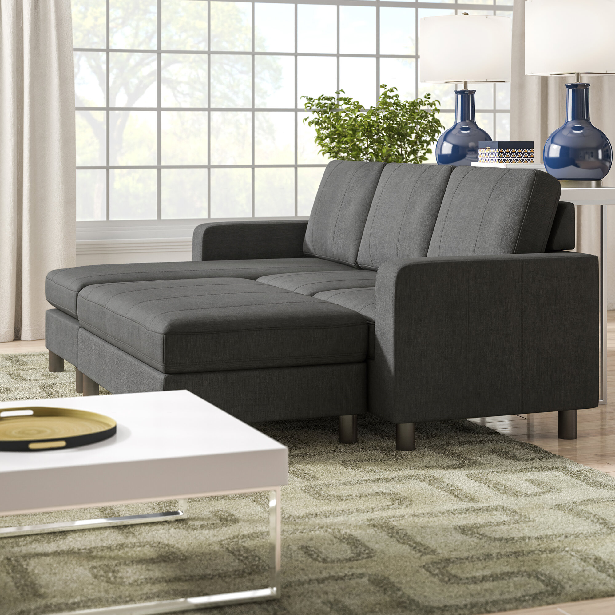 Three Posts Teen Askerby Reversible Modular Sectional with ...