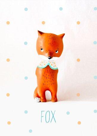Paper Mache Fox by Paola Zakimi Canvas Art by Oopsy Daisy