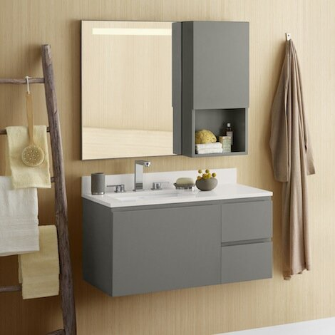 Ariella 35 Wall Mount Single Bathroom Vanity Set by Ronbow