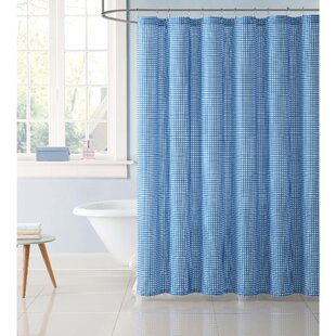 Modern Contemporary Aqua Shower Curtain
