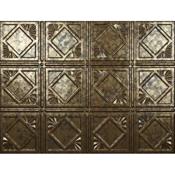 Charleston Backsplash Wall Paneling 18 x 24 Field Tile in Cracked Copper by MirroFlex