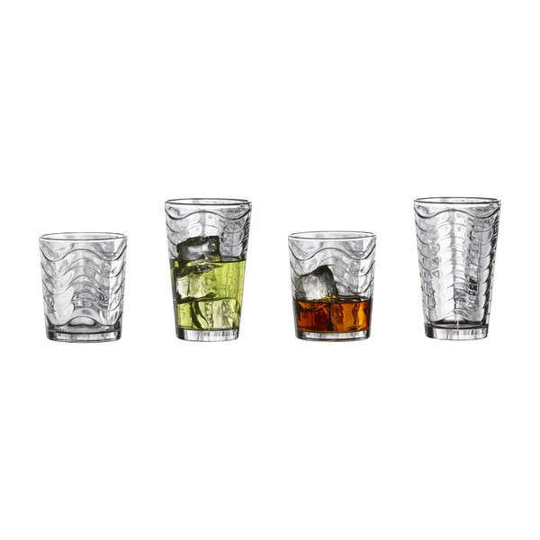 Allure 16 Piece Drinkware Set by Style Setter