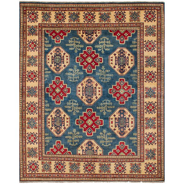 One-of-a-Kind Celyn Hand-Woven Wool Blue Area Rug by Isabelline