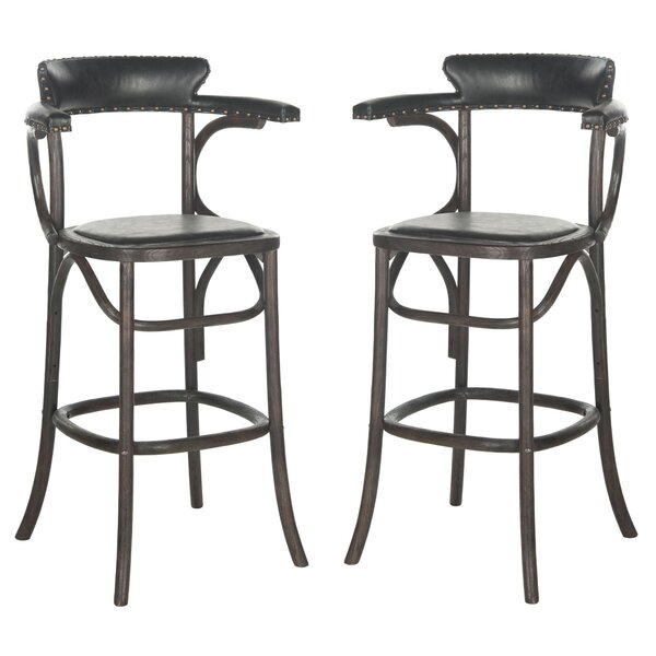 Vicki 30 Bar Stool with Cushion by Greyleigh