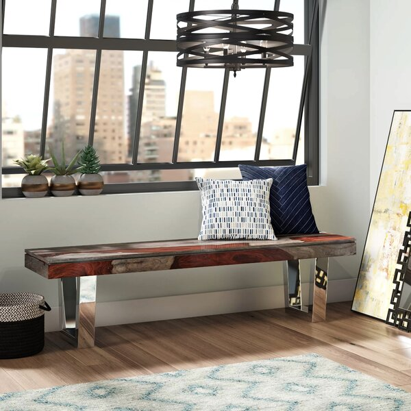Napoli Wood Bench by Brayden Studio