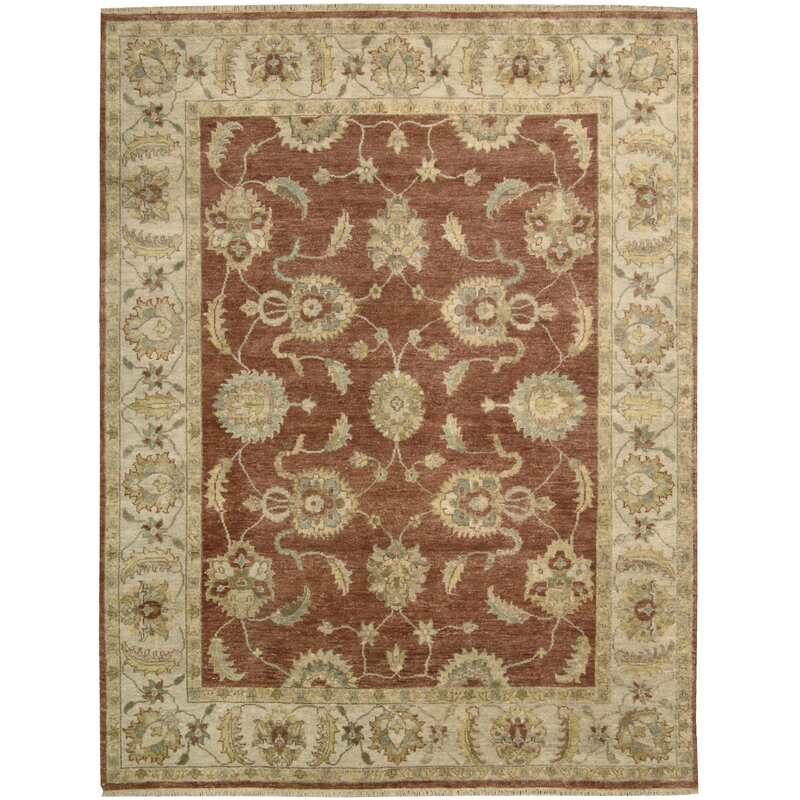 9x12 New Nourison Nourmak Hand Knotted Wool Reversible: Nourison Tajik Hand-Knotted Wool Rust Area Rug