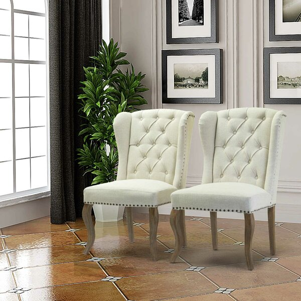 Jolene Wingback Chair (Set of 2) by Canora Grey