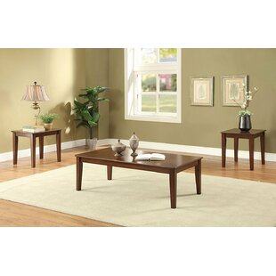 Gastelum Wooden 3 Piece Coffee Table Set Red Barrel Studio