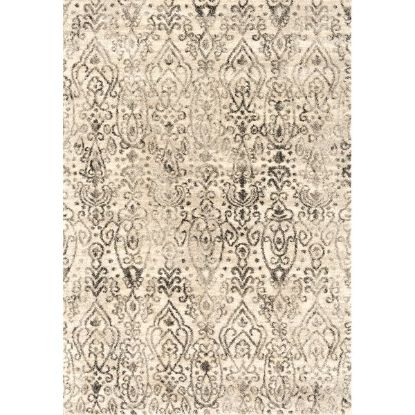 Caprice Vision Cream Area Rug by Bungalow Rose