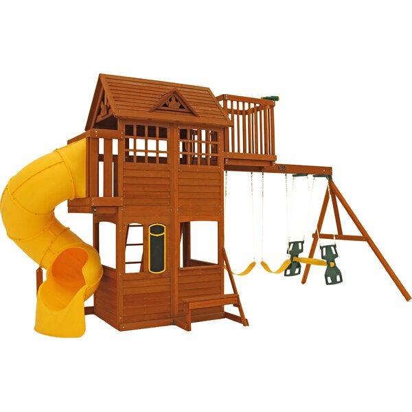 Abbeydale Clubhouse Wooden Swing Set by KidKraft