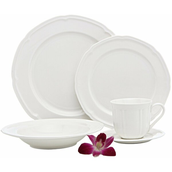 French Riviera Premium 40 Piece Dinnerware Set, Service for 8 by Melange