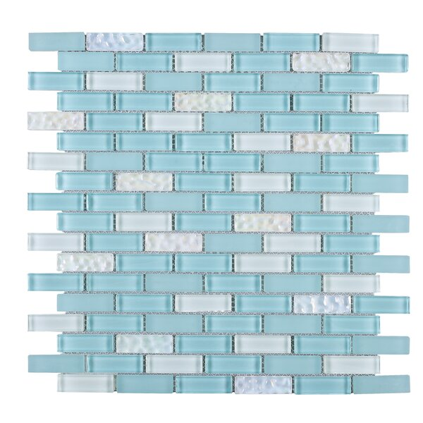 Mix 1 x 2 Mixed Material Tile in Blue by Multile