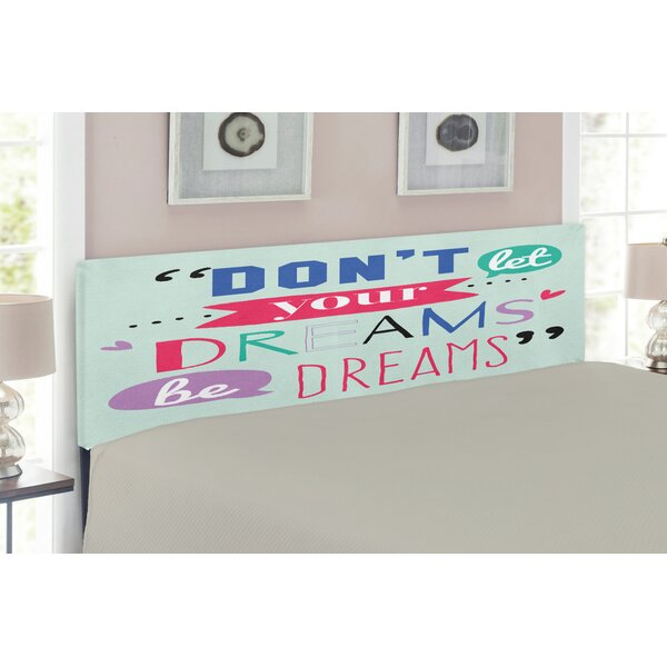 Quotes Upholstered Panel Headboard by East Urban Home