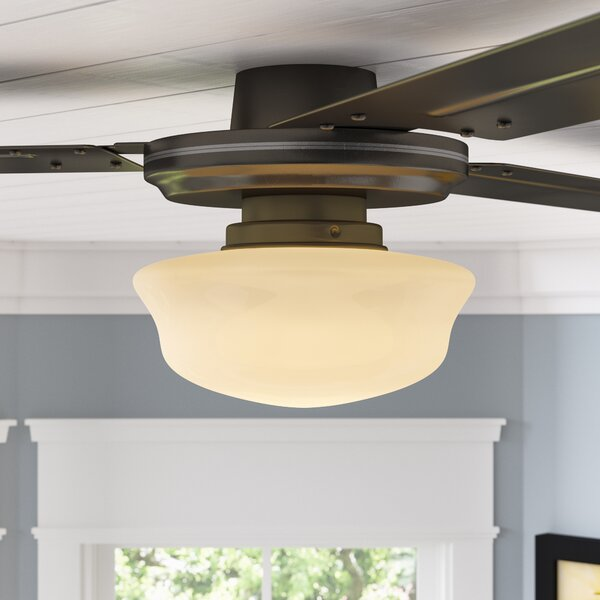 1 Light School House Ceiling Fan Light Kit by Red Barrel Studio