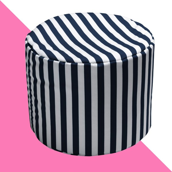 Billings Striped Outdoor Pouf Ottoman by Hashtag Home