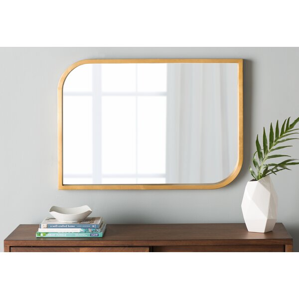 Leon Irregular Gold Wall Mirror by Langley Street