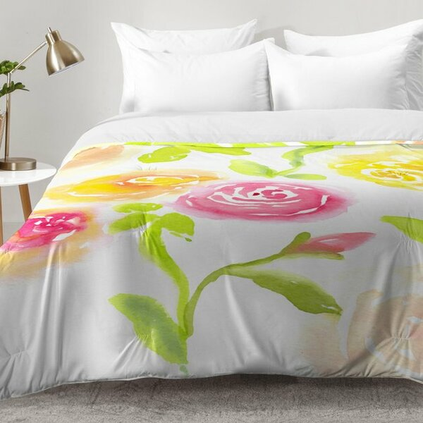 Candy Colored Blooms Comforter Set