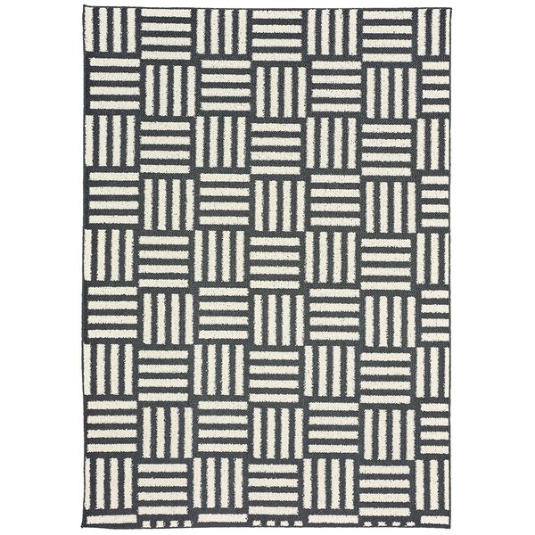 Dorothy Brown/White Area Rug by Zipcode Design