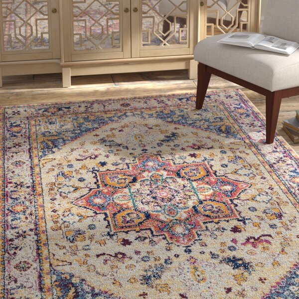 Dietz Cream Area Rug by Bungalow Rose