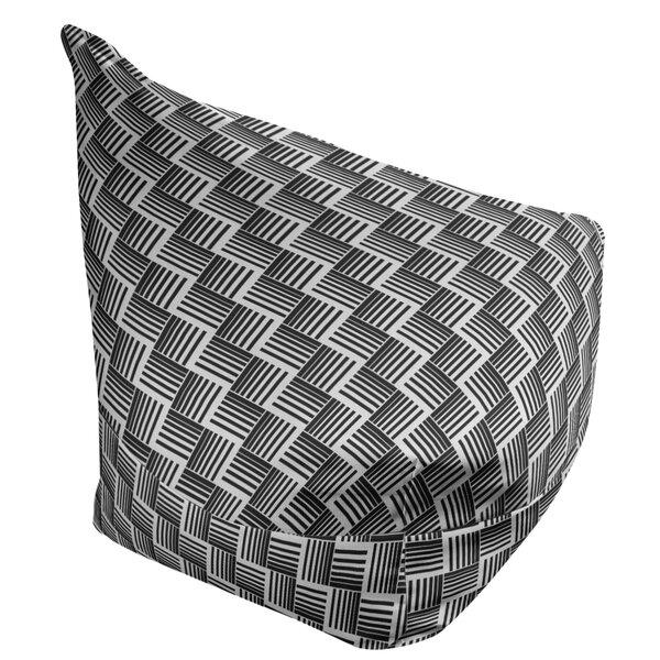 Classic Basketweave Stripes Bean Bag Cover By East Urban Home
