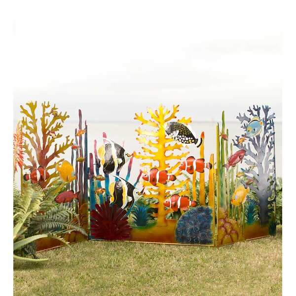 3.5 ft. H x 7.5 ft. W Under the Sea Screen Garden Fence Panel by Wind & Weather