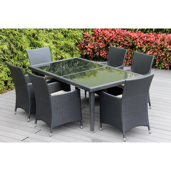 Ohana 6 Piece Sunbrella Dining Set with Cushions by Ohana Depot