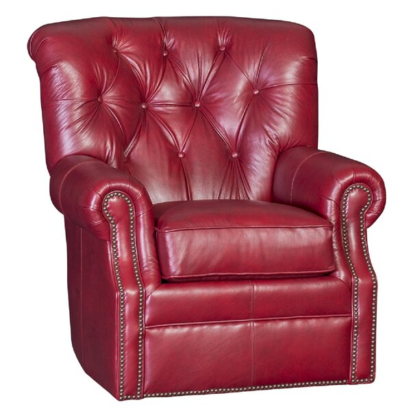 Cumbie Wood Swivel Club Chair by Darby Home Co