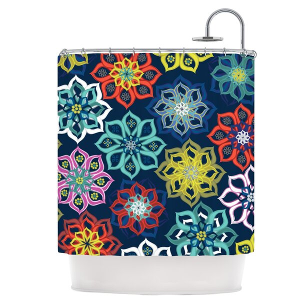 Multi Flower Shower Curtain by East Urban Home