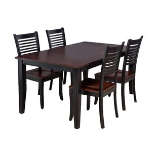 Aden 5 Piece Solid Wood Dining Set By TTP Furnish