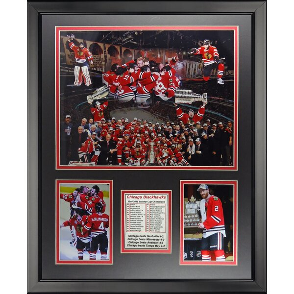 NHL Chicago Blackhawks 2015 Stanley Cup Champions Framed Memorabilia by Legends Never Die