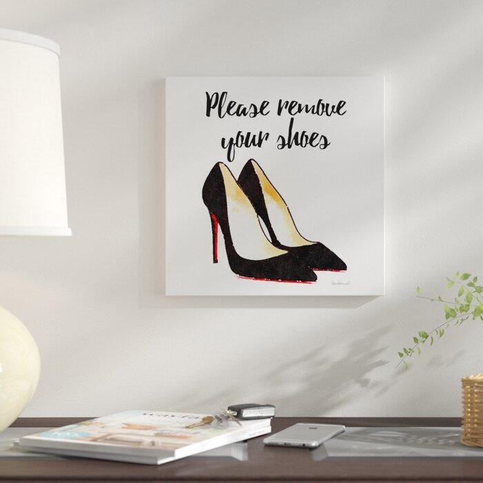 934826fc2fc8c 'Please Remove Your Shoes, Square' Textual Art on Canvas