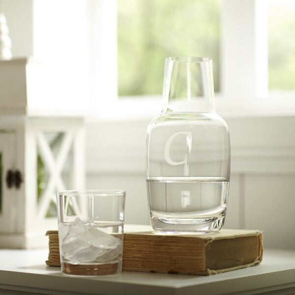 Monogrammed Nightstand Carafe by Birch Lane™