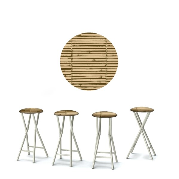 Luau 30'' Patio Bar Stool with Cushion (Set of 4) by Best of Times