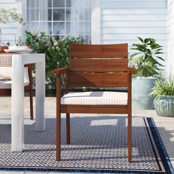 Brighton Patio Dining Chair with Cushion (Set of 2) by Sol 72 Outdoor