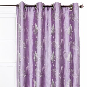 Wanamaker Nature/Floral Semi-Sheer Grommet Single Curtain Panel