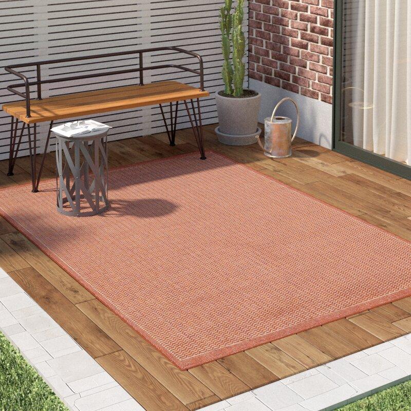 Adelmo Terracotta Indoor/Outdoor Area Rug