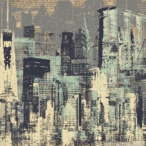 New York, New York Graphic Art on Wrapped Canvas by Mercury Row