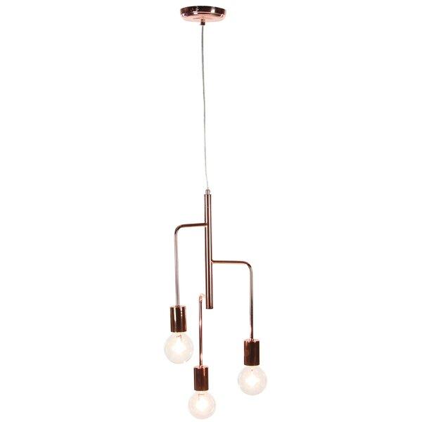 Ashley 23 3-Light Sputnik Chandelier by Wrought St