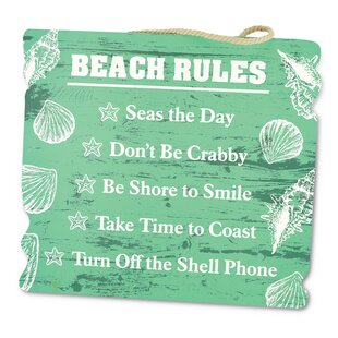 Beach Rules Wall Décor