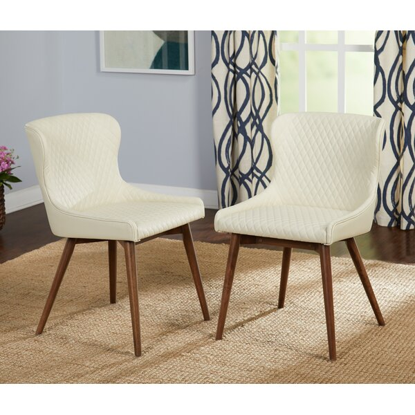 West Line Upholstered Dining Chair (Set of 2) by George Oliver