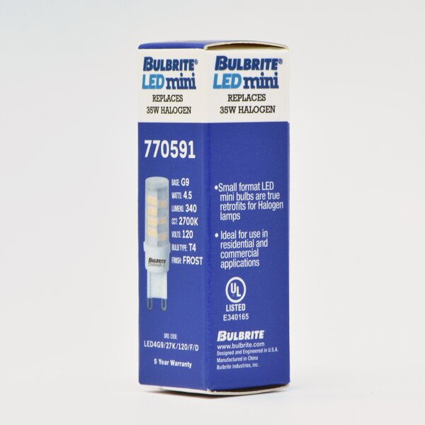 5W G9 Dimmable LED Light Bulb (Set of 2) by Bulbrite Industries