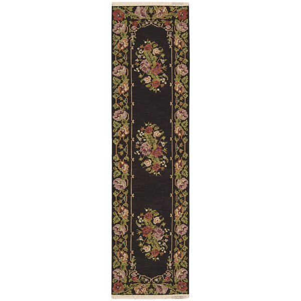 Cacho Hand-Knotted Wool Black Area Rug