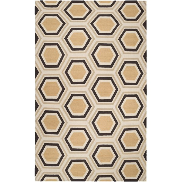 Alston Hand Woven Wool Chocolate Area Rug by Langley Street
