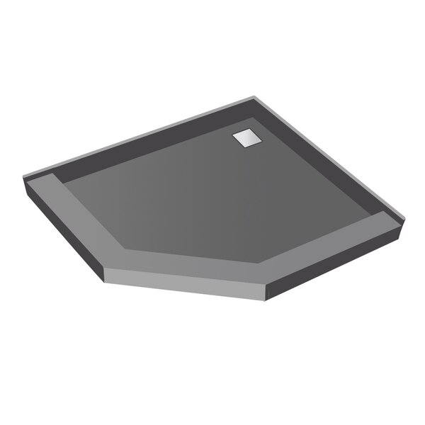 50 x 50 Neo-Angle Triple Threshold Shower Base with Drain Top by Tile Redi