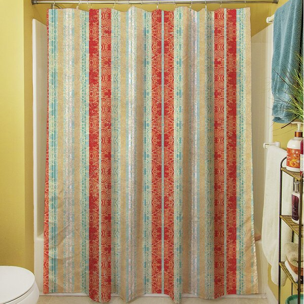 Kerrie Striped Shower Curtain by Red Barrel Studio