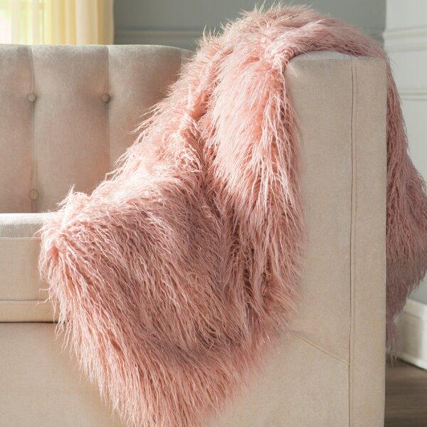 Cobbett Faux Fur Throw Blanket by Willa Arlo Interiors