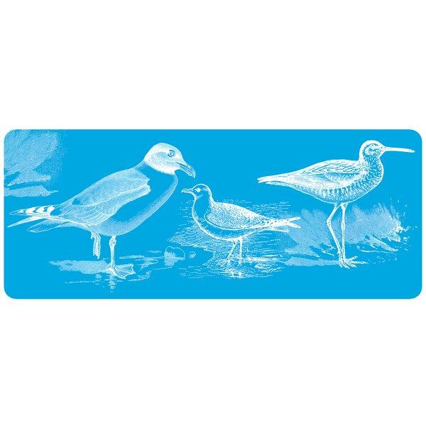 Briarcliff Turquoise Birds Kitchen Mat