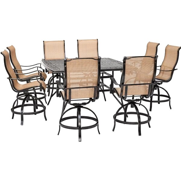 Dominquez Counter-Height 9 Piece Dining Set by Darby Home Co