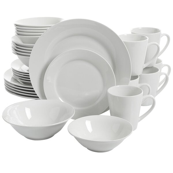 Noble Court 30 Piece Dinnerware Set, Service for 4 by Gibson Home